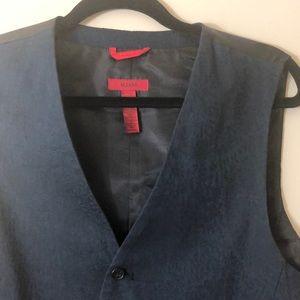 Alfani Navy Blue 5-Button Fully-lined Vest Size XL